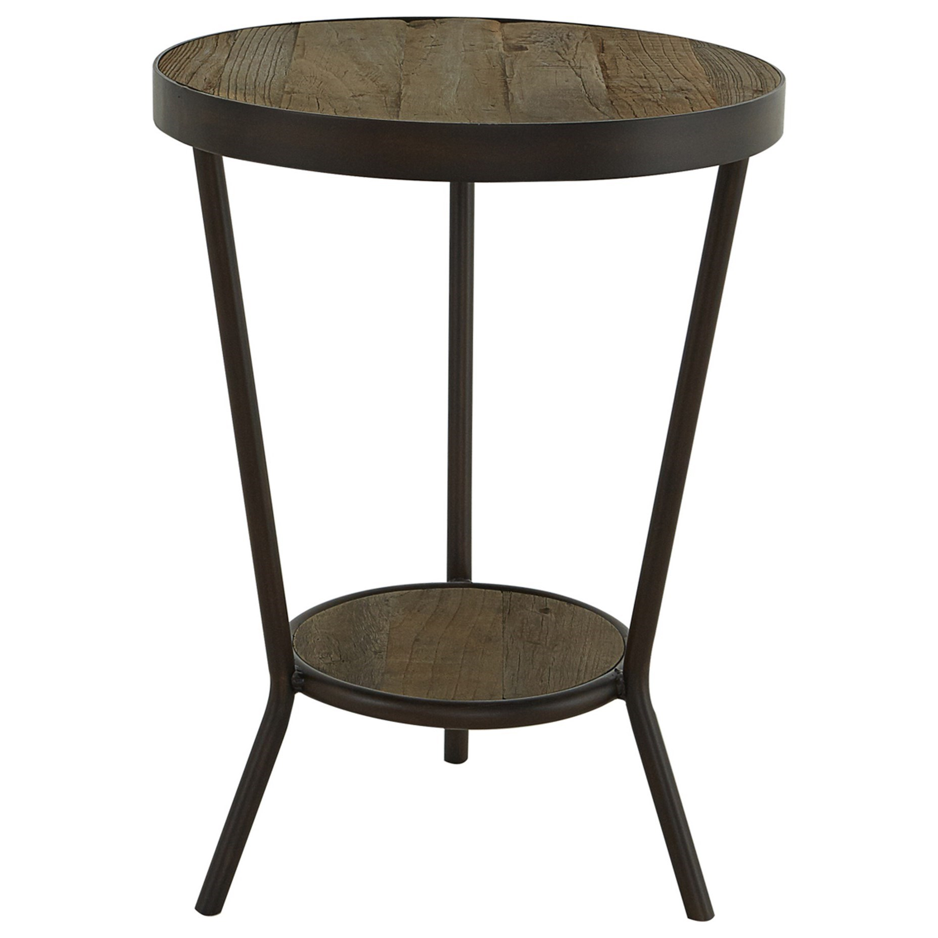 Round Reclaimed Elm Side Table