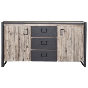 Industrial Sideboard with Metal Drawers