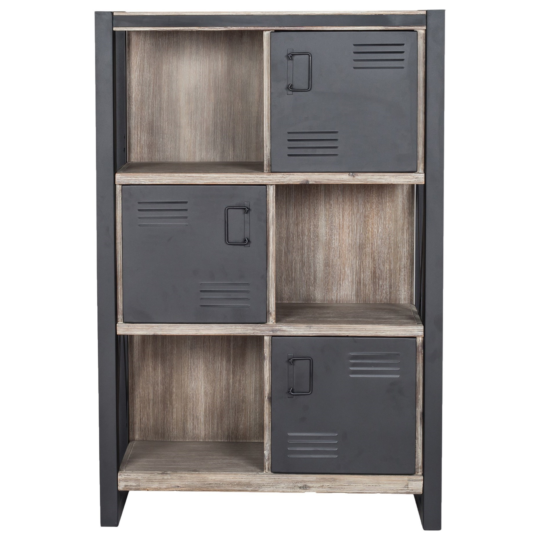 Industrial Bookshelf With Doors