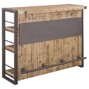 Moe's Home Collection Brooklyn Large Rustic Industrial Bar