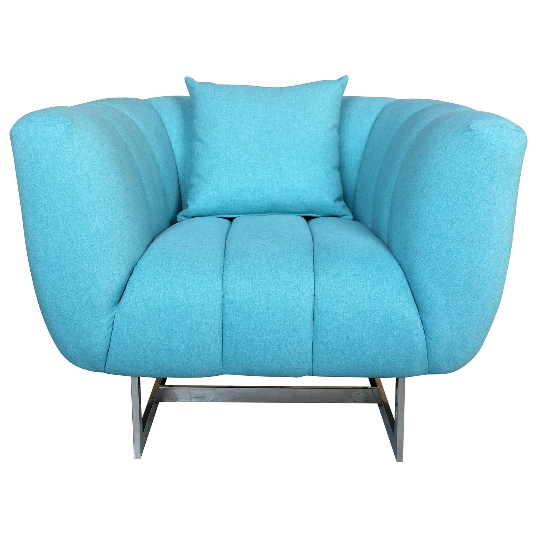 Channel-Tufted Arm Chair