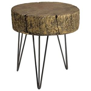 Rustic Metallic Accent Table