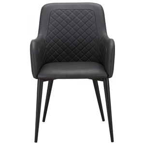 Quilted Faux Leather Dining Chair