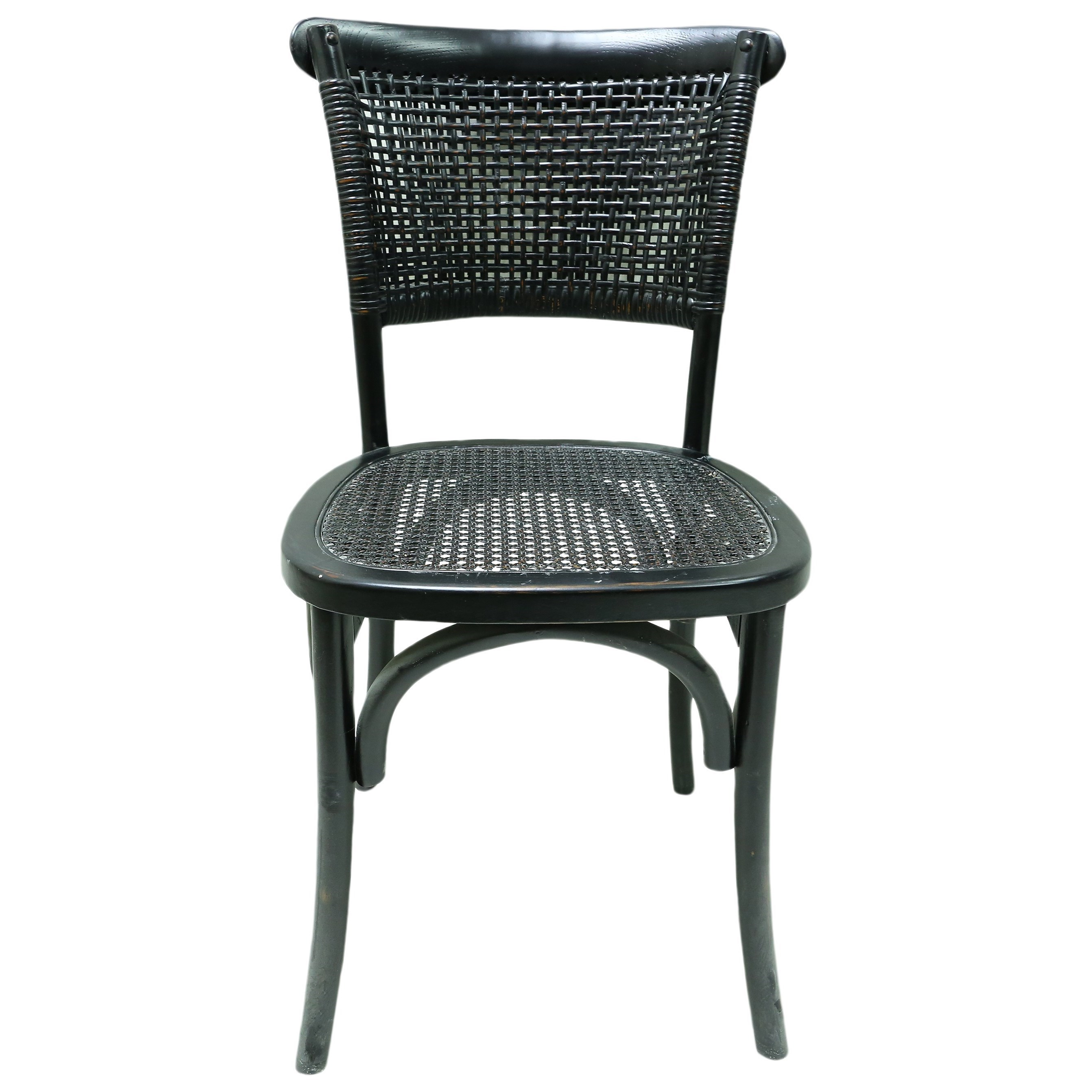 Dining Chair with Rattan Seat