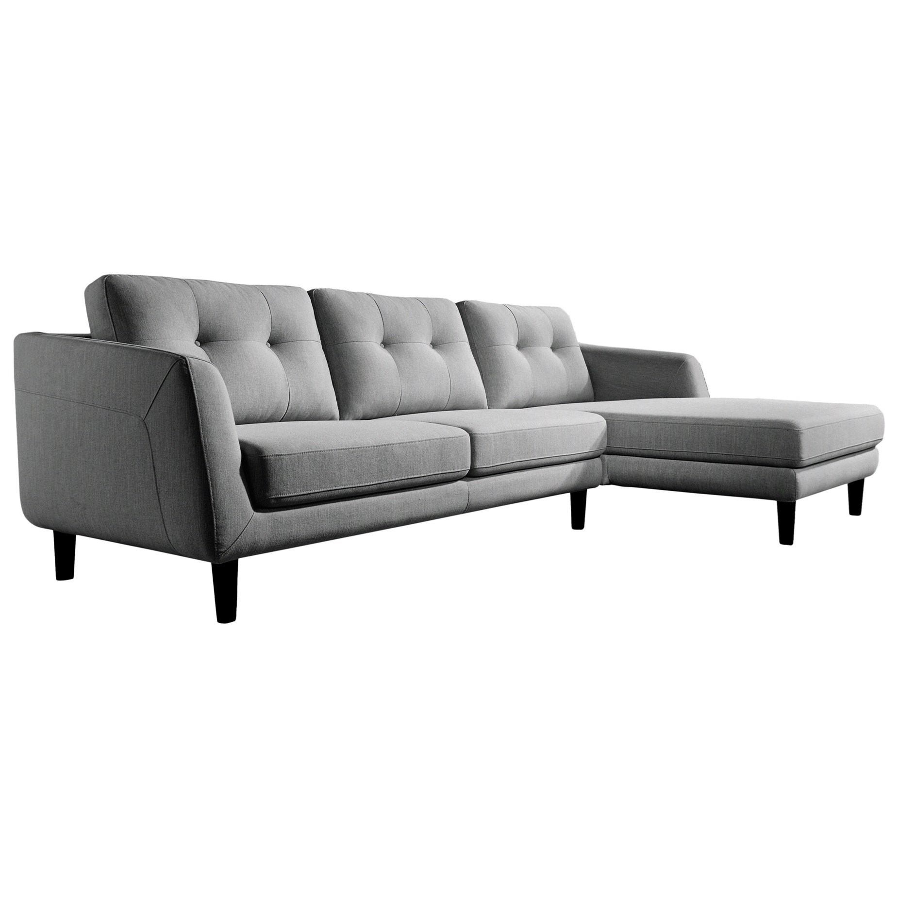 Corey Sectional Sofa with Right Chaise by Moe's Home Collection at Stoney Creek Furniture