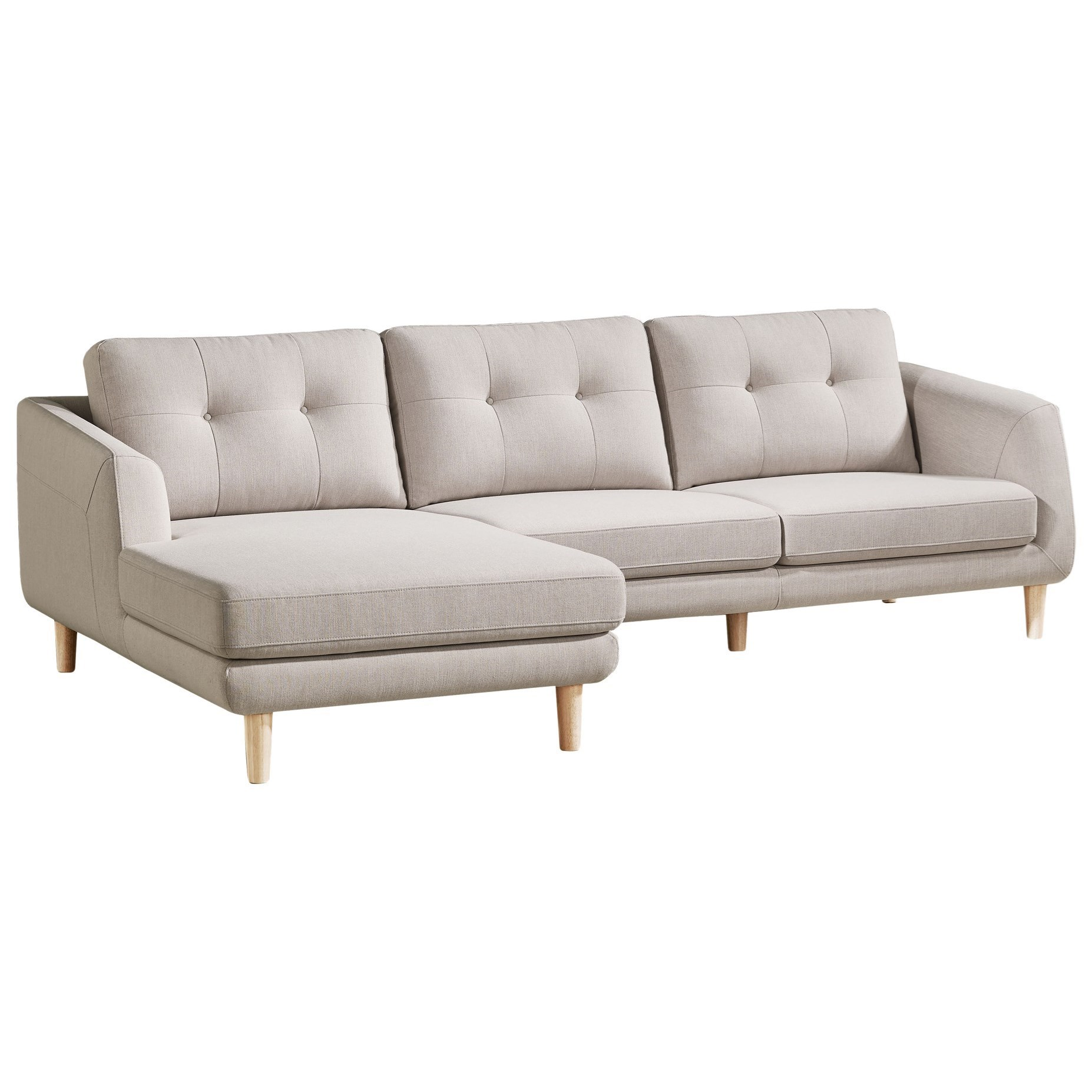 Corey Sectional Sofa with Left Chaise by Moe's Home Collection at Stoney Creek Furniture