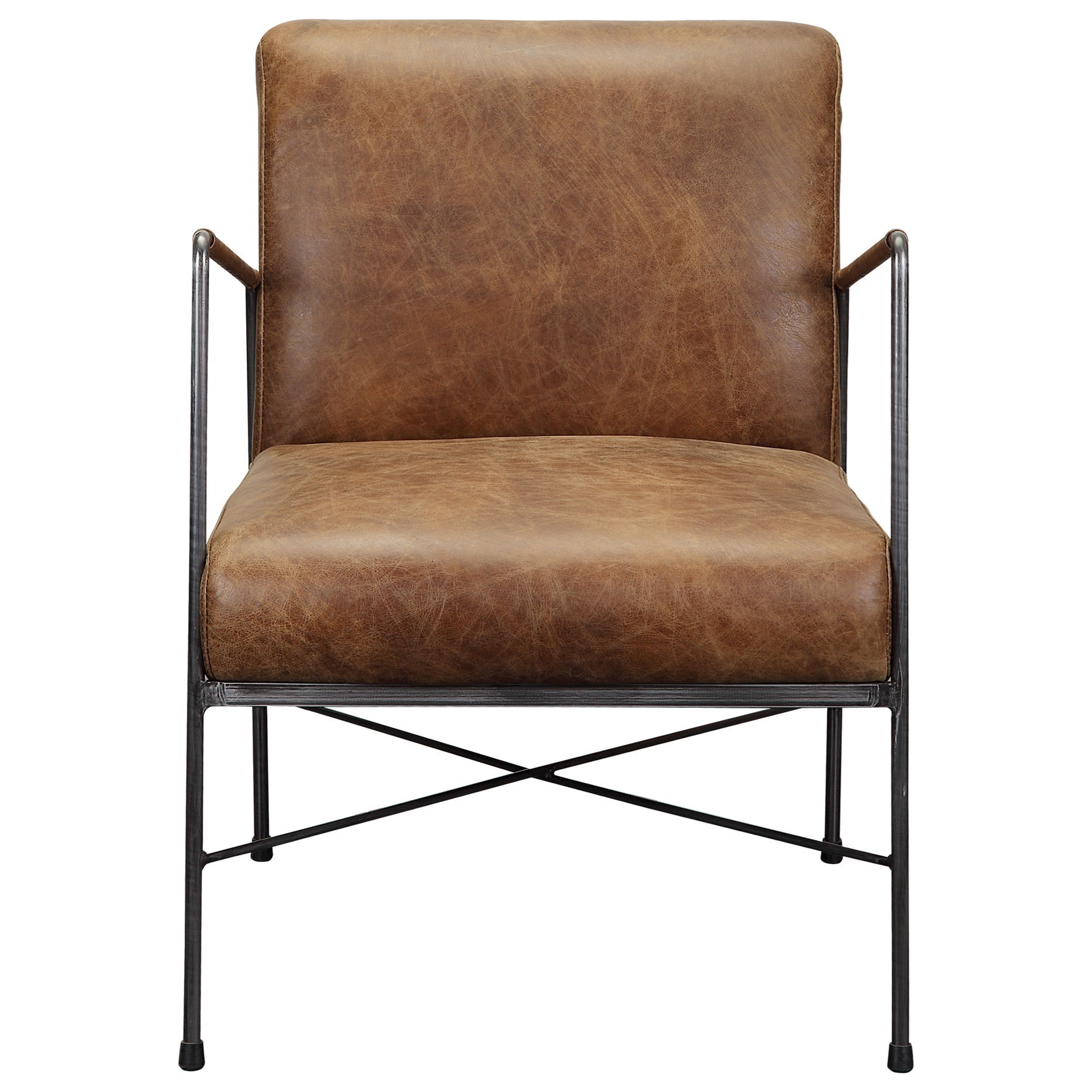Dagwood Leather Arm Chair by Moe's Home Collection at Stoney Creek Furniture