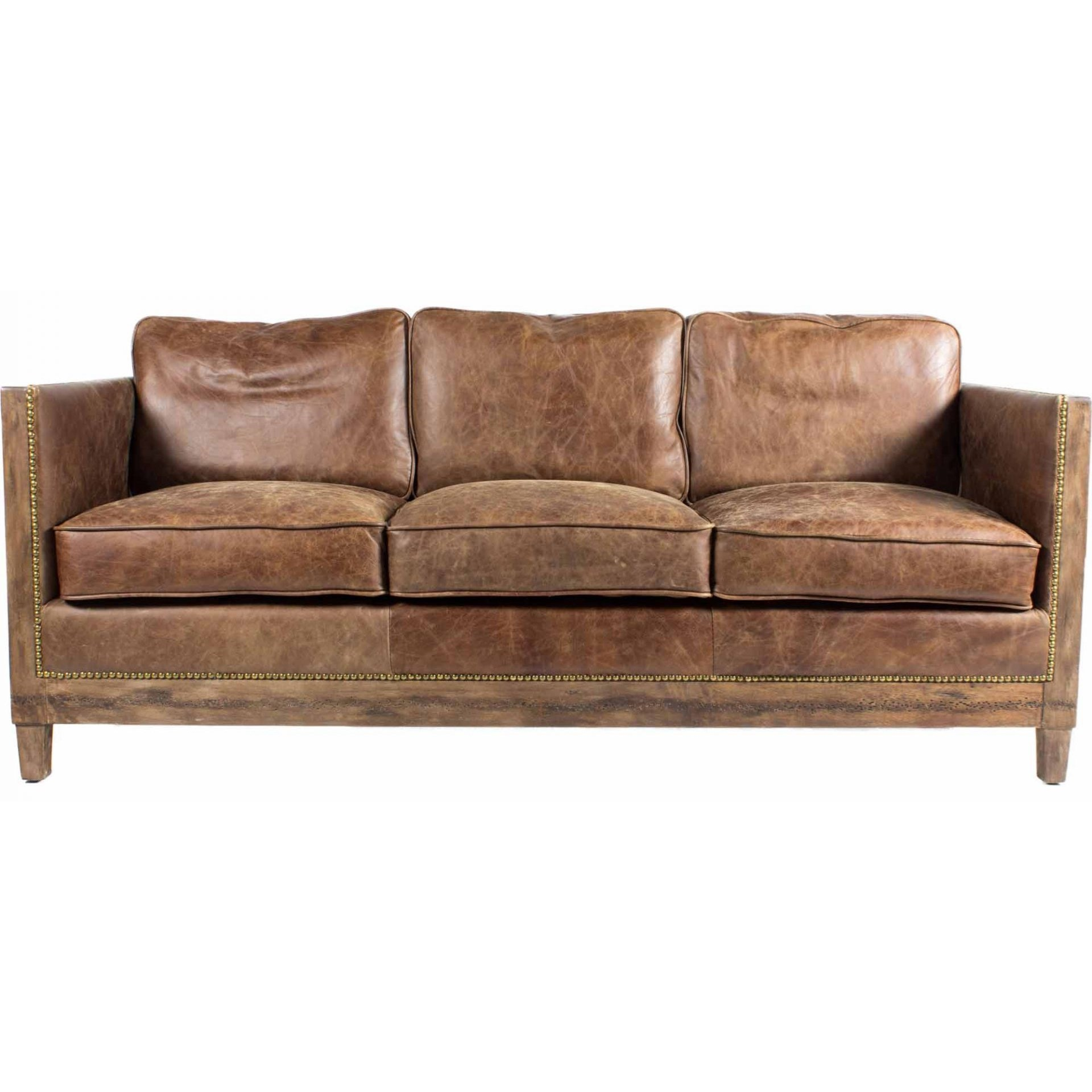 Leather Furniture Traveler Collection: Moe's Home Collection Darlington Leather Sofa With Exposed