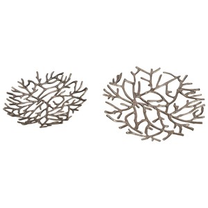 Moe's Home Collection Decorative Accessories Twig Platter In Nickel Finish