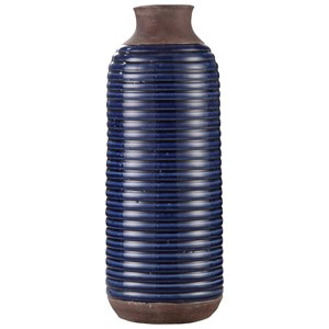 Moe's Home Collection Decorative Accessories Alexandria Vase Tall Blue