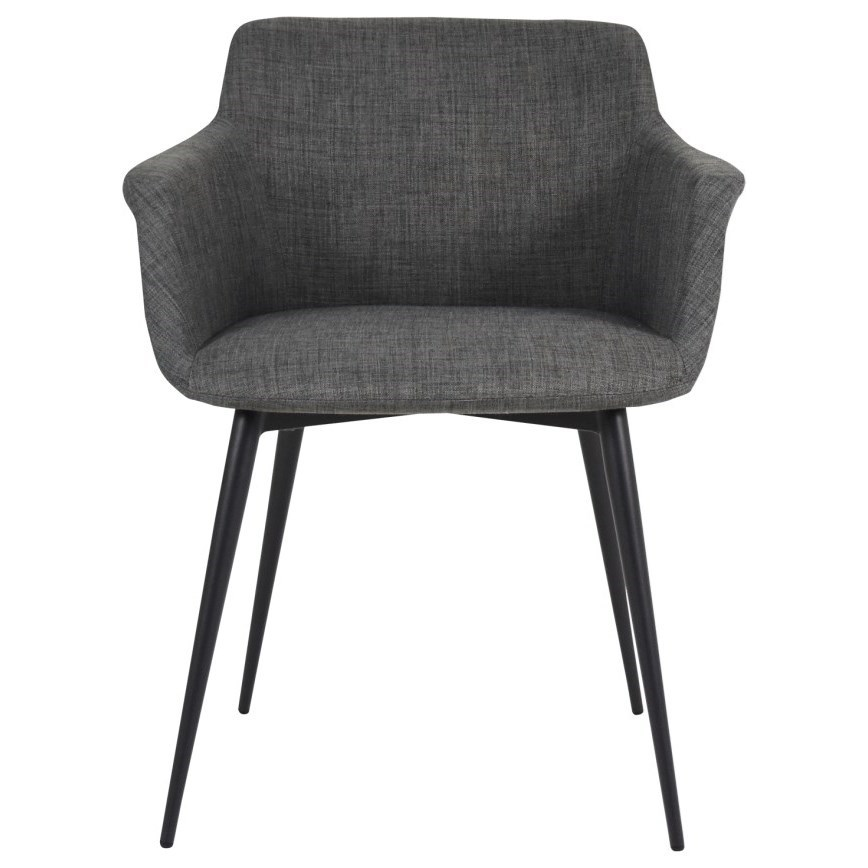 Dining Chairs Ronda Upholstered Arm Chair with Steel Legs by Moe's Home Collection at Stoney Creek Furniture