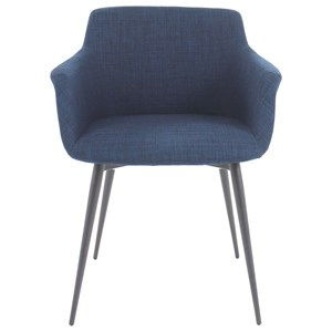 Ronda Upholstered Arm Chair with Steel Legs