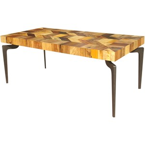 Moe's Home Collection Gajel Dining Table With Metal Legs