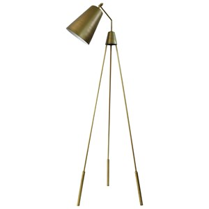 Moe's Home Collection Lighting Amato Floor Lamp Gold
