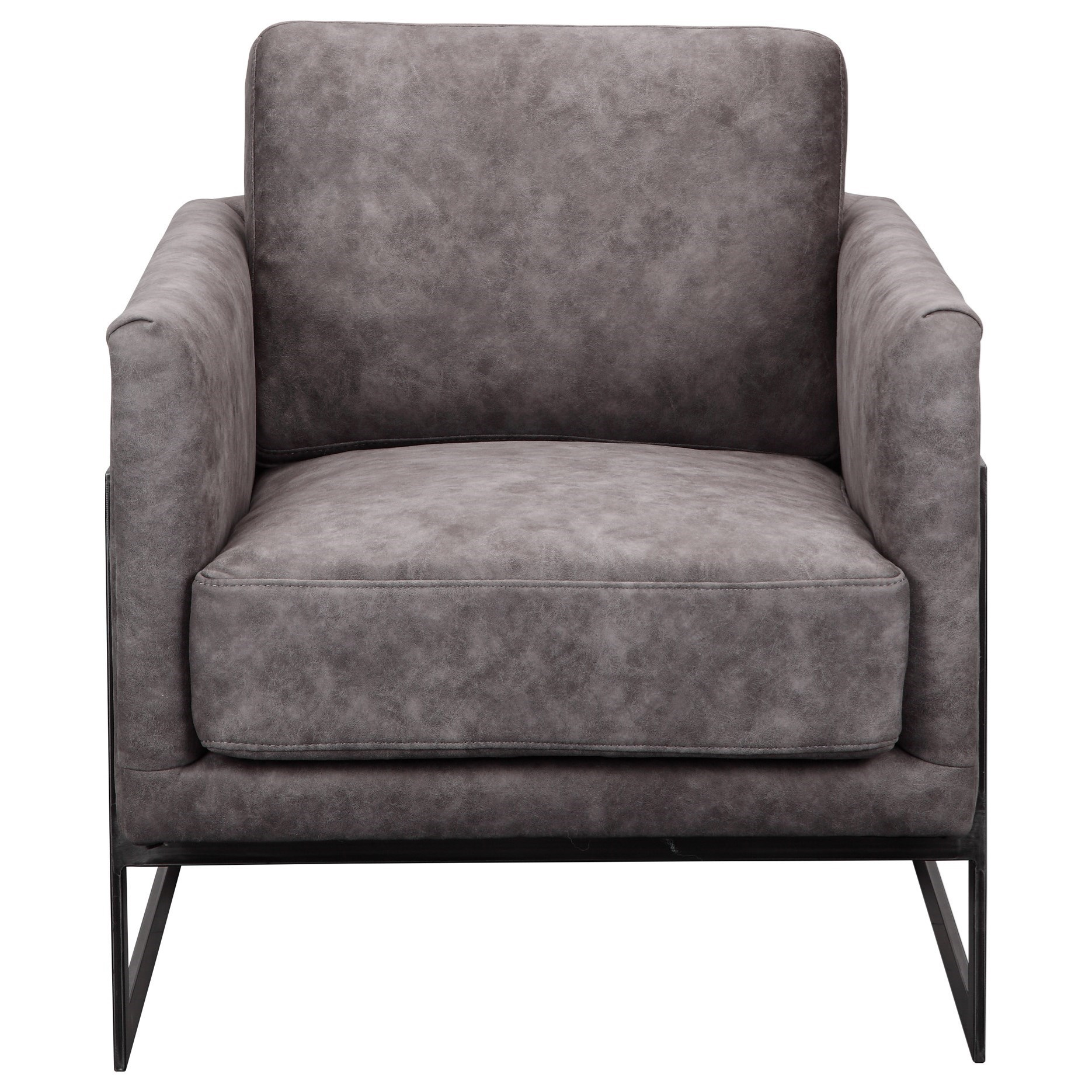 Luxe Club Chair Grey Velvet by Moe's Home Collection at Stoney Creek Furniture