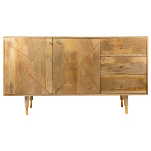 Moe's Home Collection Messinki  3 Drawer Sideboard