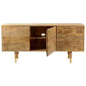 Moe 39 S Home Collection Messinki 3 Drawer Sideboard Boulevard Home Furnishings Sideboards