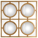Moe's Home Collection Mirrors and Screens Espana Gold Mirror - Item Number: TZ-1023-32