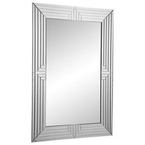 Montecito Mirror with Mirrored Frame