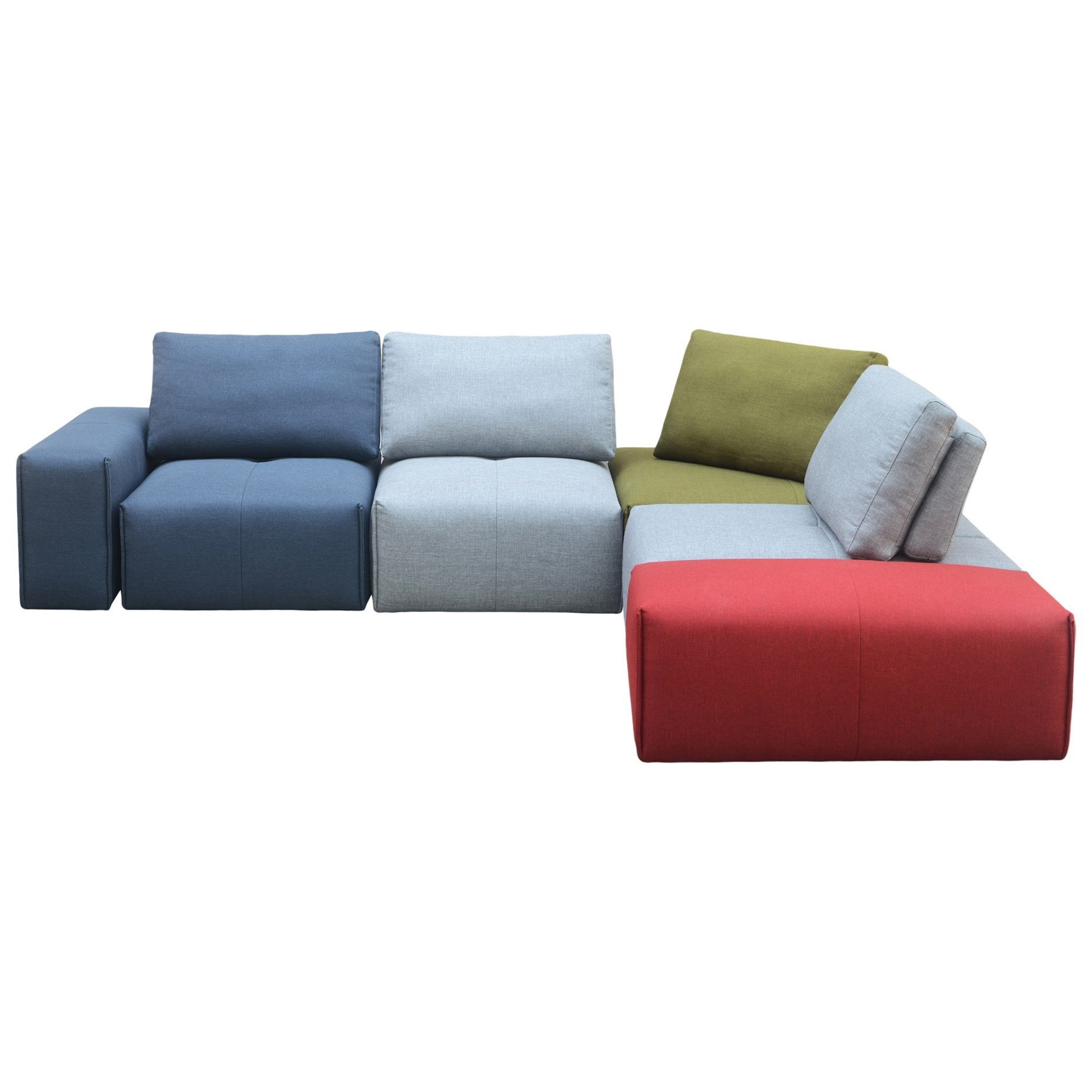 Nathaniel Modular Sectional Multicolor by Moe's Home Collection at Stoney Creek Furniture