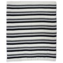 Moe's Home Collection Pillows and Throws Allfresco Throw Blue Stripes - Item Number: OX-1021-46