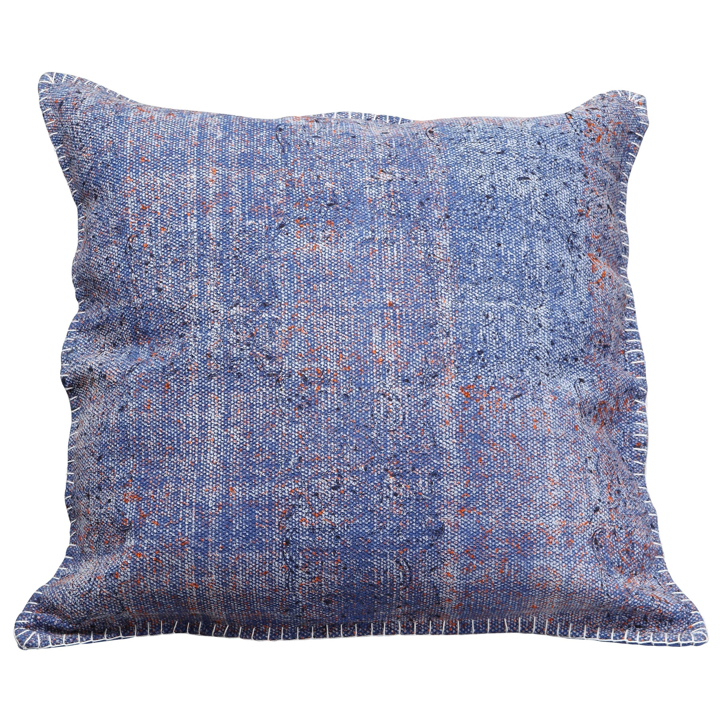 Pillows and Throws Floret Cushion Blue by Moe's Home Collection at Stoney Creek Furniture
