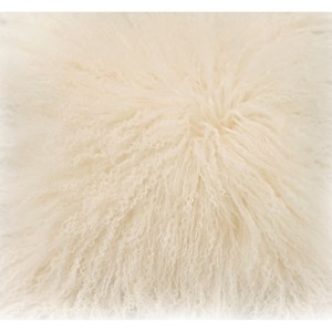 Moe's Home Collection Pillows and Throws Lamb Fur Pillow Cream