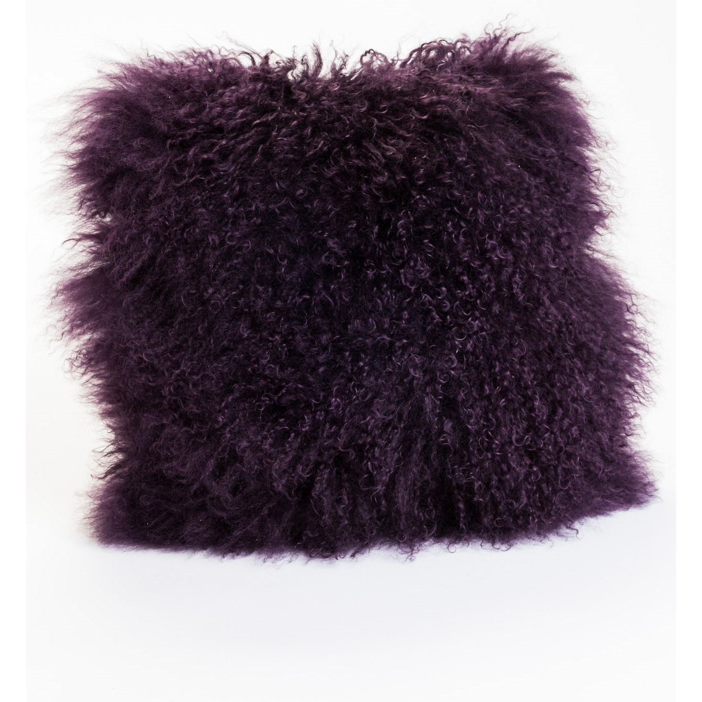 Pillows and Throws Lamb Fur Pillow Purple by Moe's Home Collection at Stoney Creek Furniture