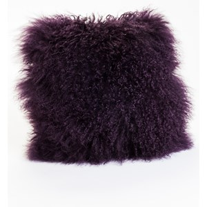 Moe's Home Collection Pillows and Throws Lamb Fur Pillow Purple