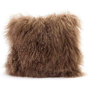Moe's Home Collection Pillows and Throws Lamb Fur Pillow Natural