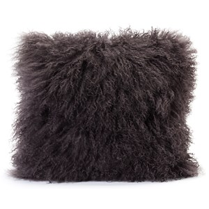 Moe's Home Collection Pillows and Throws Lamb Fur Pillow Grey