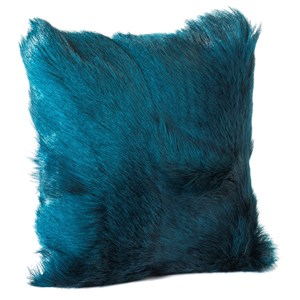 Moe's Home Collection Pillows and Throws Goat Fur Pillow Teal