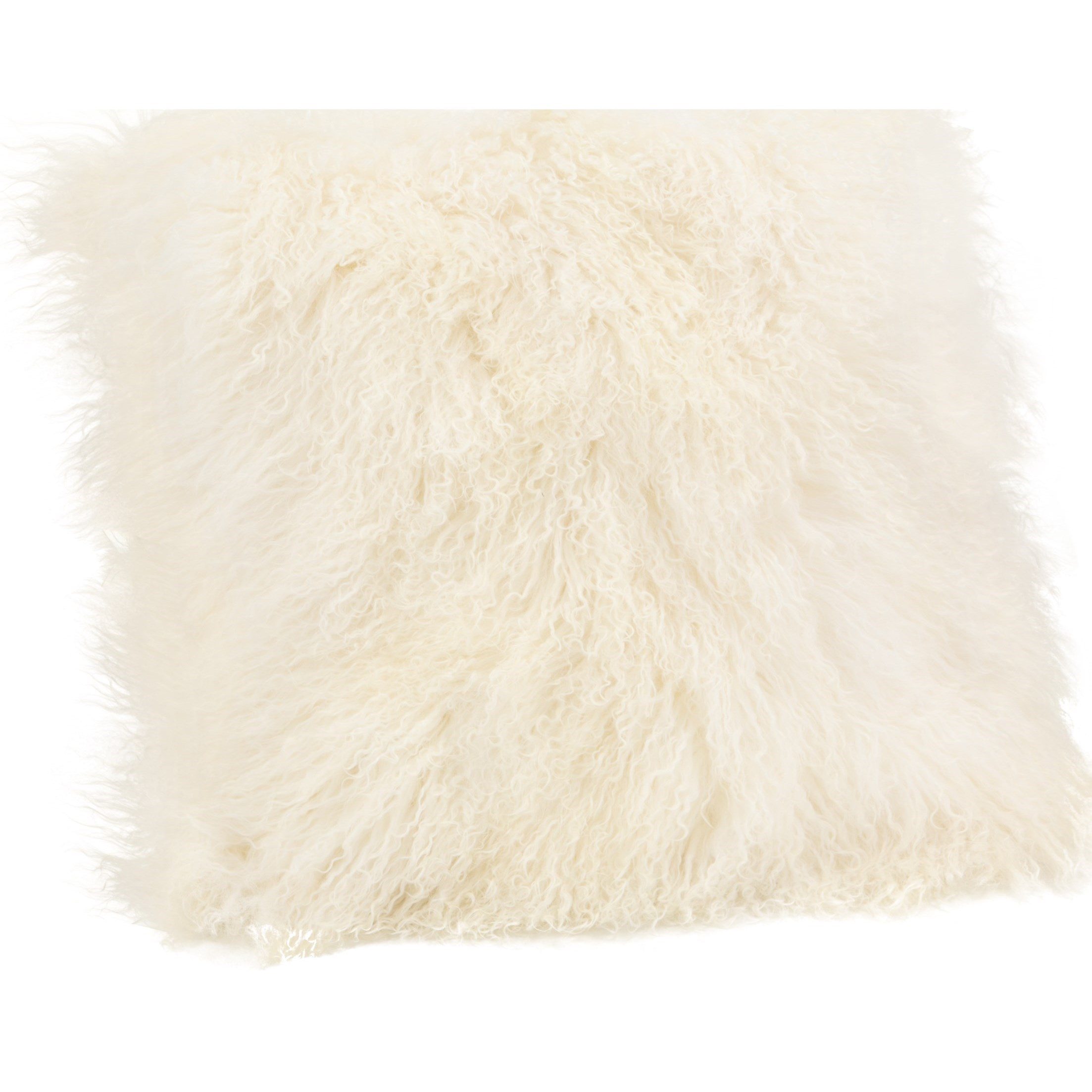 Pillows and Throws Lamb Fur Pillow Large  Cream by Moe's Home Collection at Stoney Creek Furniture