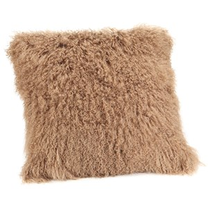 Moe's Home Collection Pillows and Throws Lamb Fur Pillow Large Natural