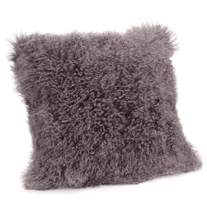 Moe's Home Collection Pillows and Throws Lamb Fur Pillow Large Grey