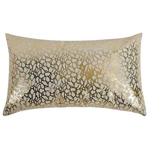 Daisy Rectangular Pillow White And Gold