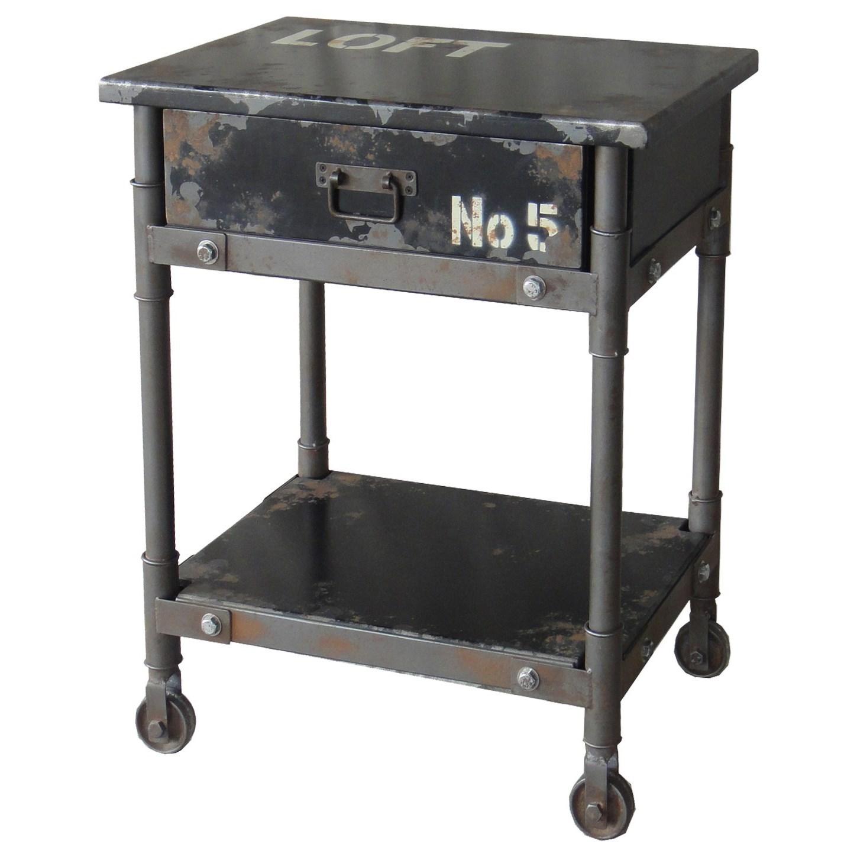 Black 1-Drawer Cabinet