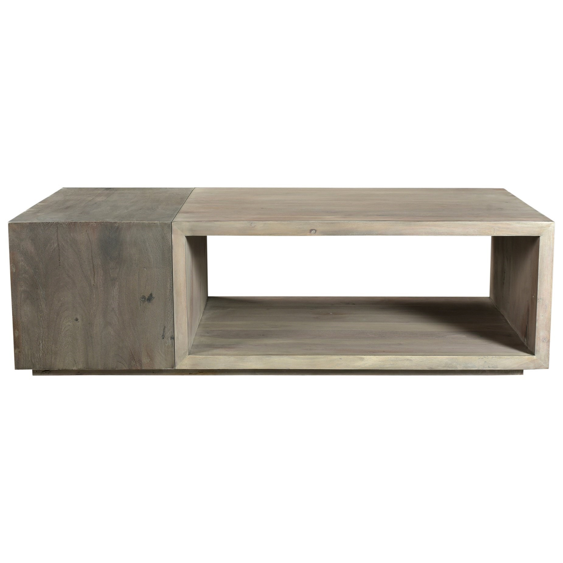 Moe S Home Collection Timtam Contemporary Solid Wood Coffee Table