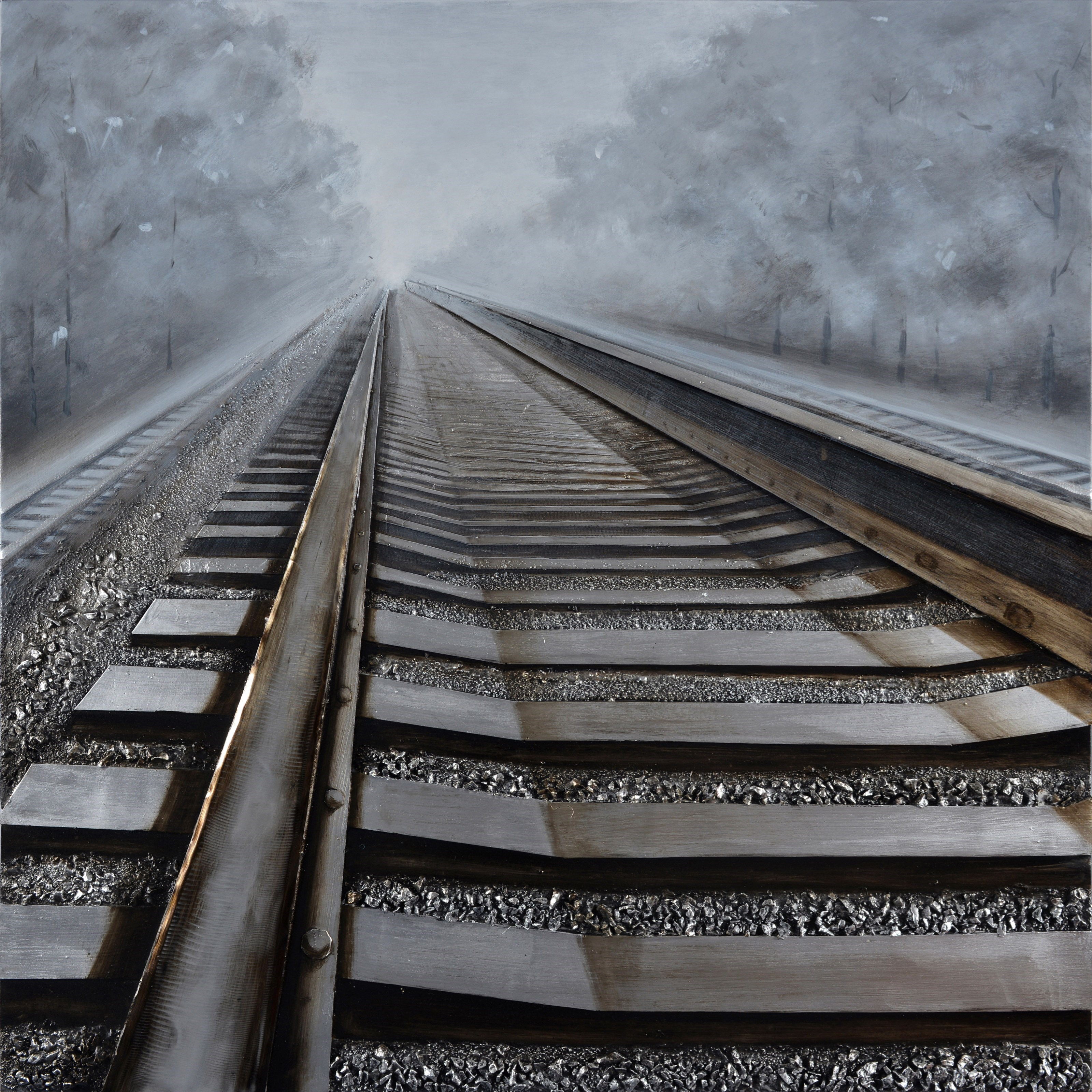 On The Rails Oil Painting