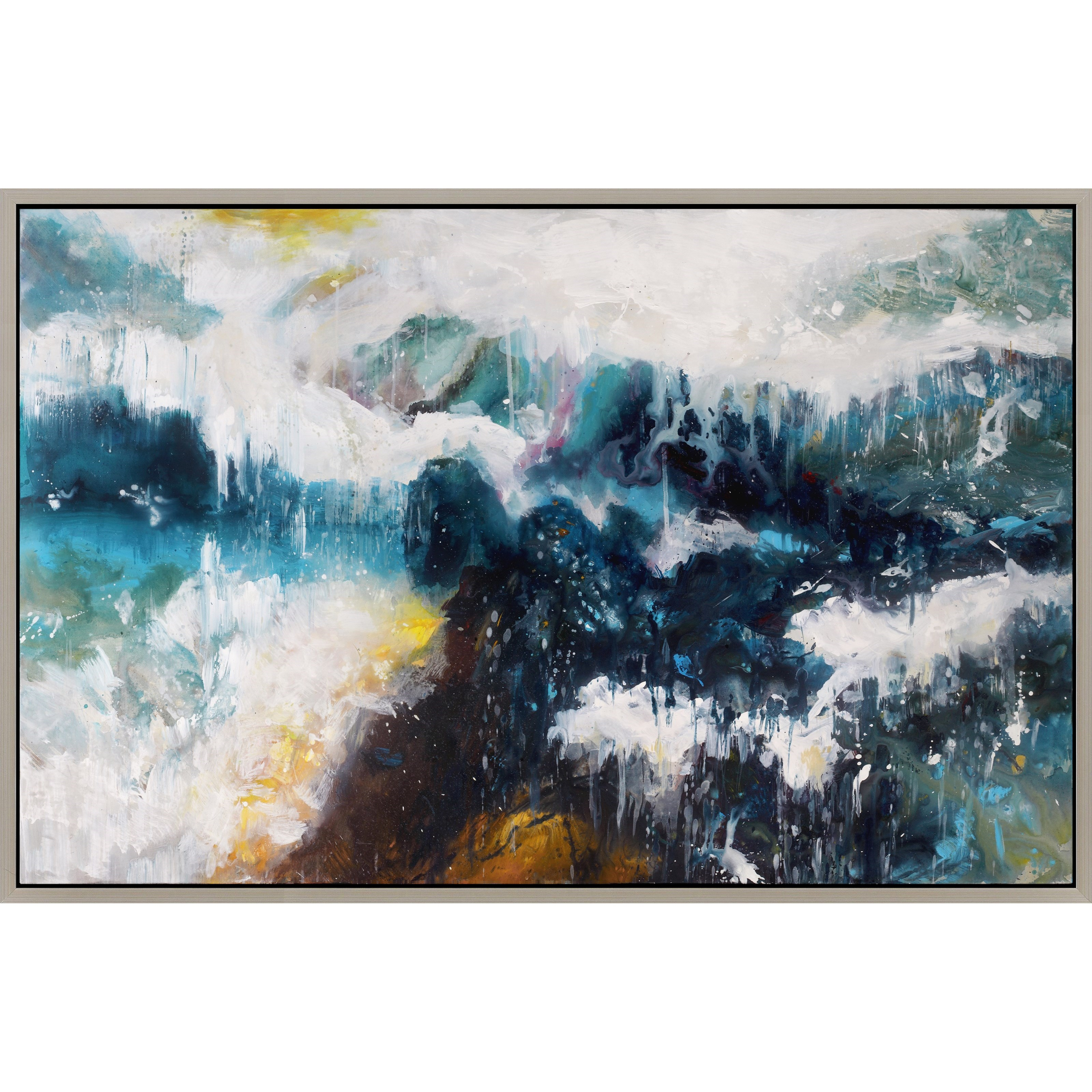 Whitecaps Wall Décor with Frame