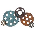 Moe's Home Collection Wall Décor Gears Wall Decor Large - Item Number: MH-1030-37