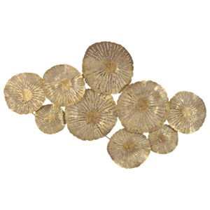 Moe's Home Collection Wall Décor Large Circles Wall Décor Gold