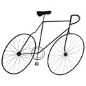 Moe's Home Collection Wall Décor Mcmillan Bicycle Wall Art Black - Item Number: MQ-1001-03