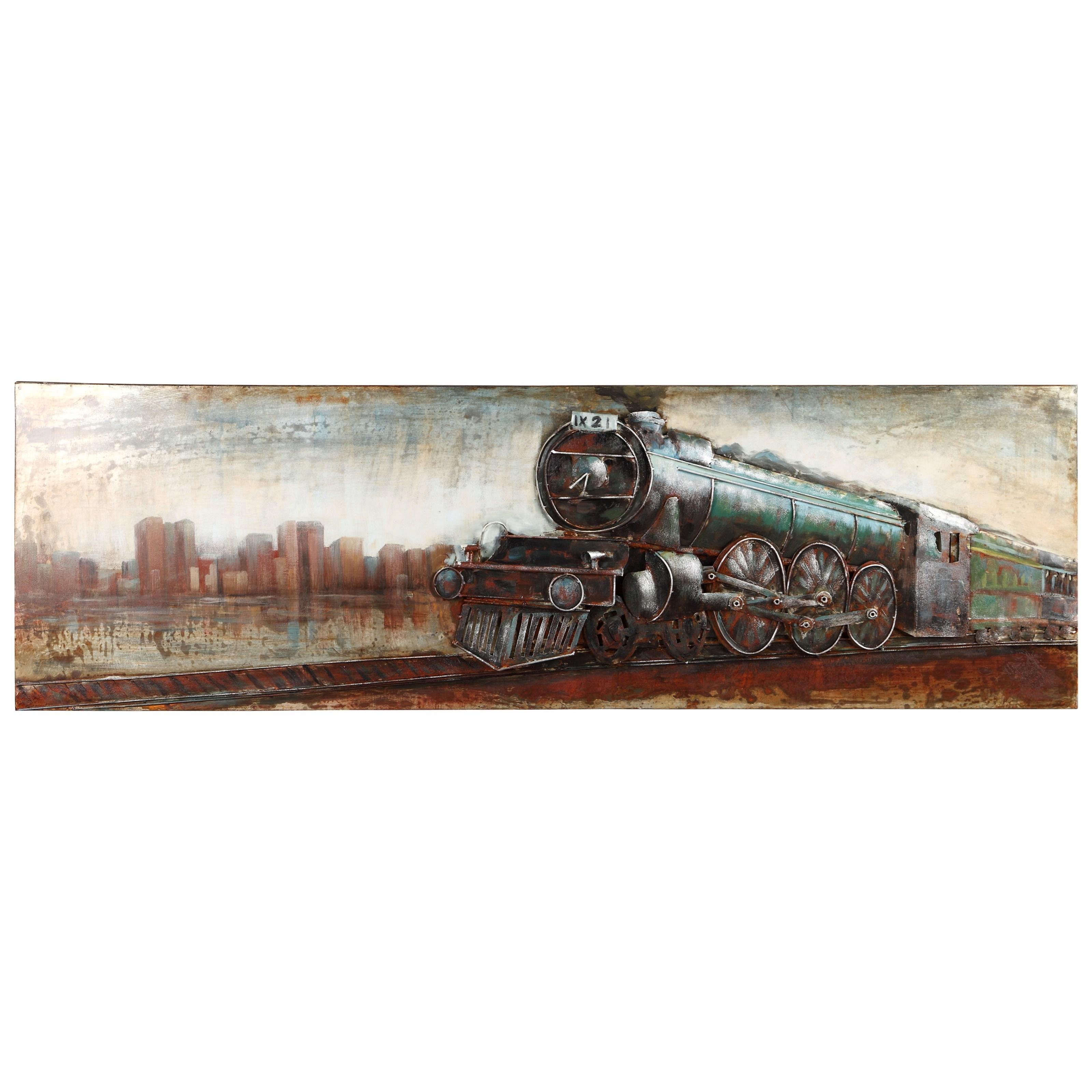 Vintage Locomotive Wall Decor