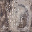 Moe's Home Collection Wall Décor Subtle Buddha - Item Number: WP-1103-37
