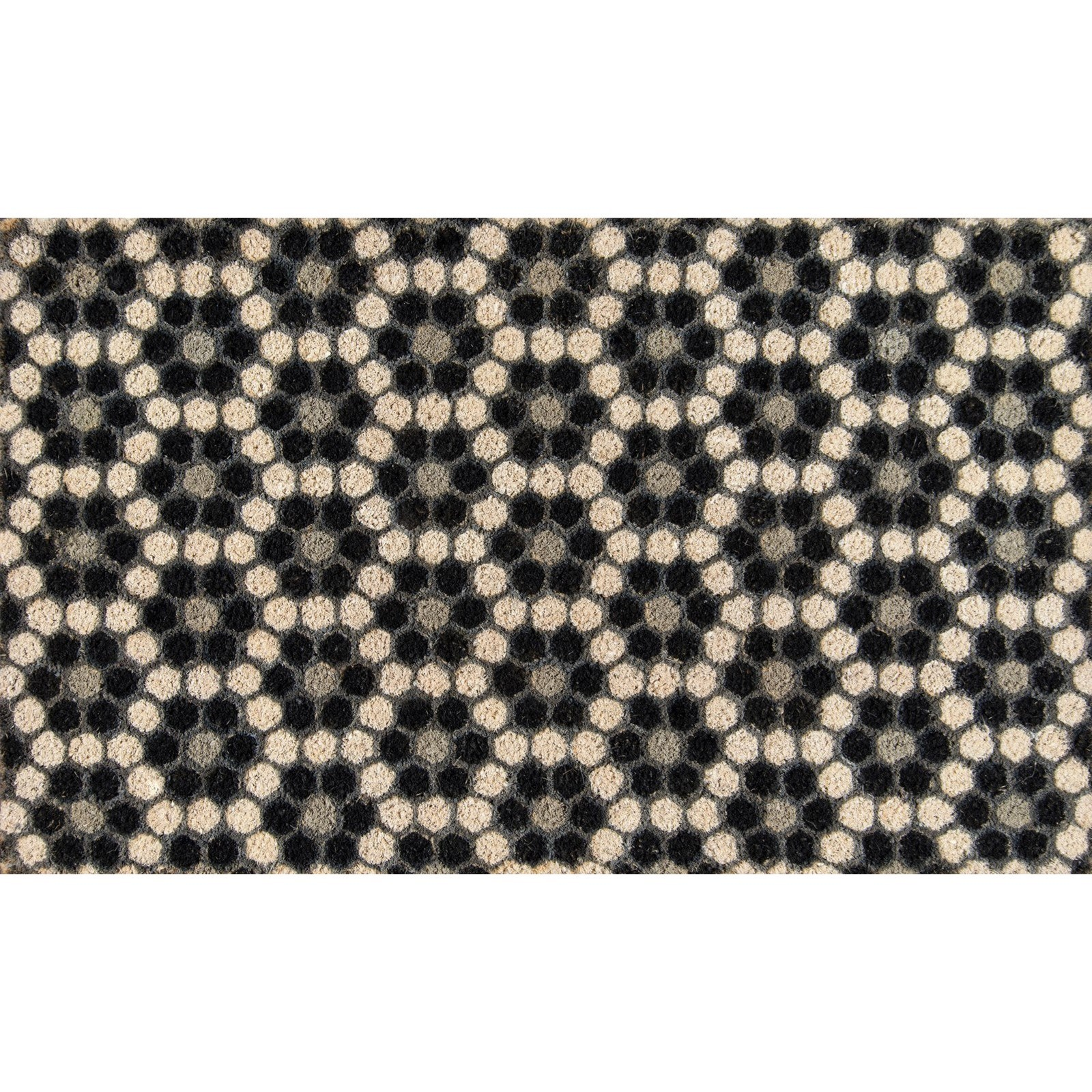"Black Hex Tile 1'6"" x 2'6"" Rug"