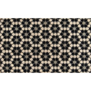 Black Hex Tile 1'6