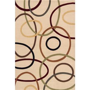 Momeni Eclectic IX 9.6 x 13.6 Area Rug : Ivory
