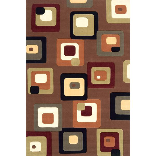 Momeni Eclectic X 8 x 11 Area Rug : Brown - Item Number: 951116550