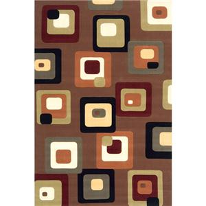 Momeni Eclectic X 8 x 11 Area Rug : Brown